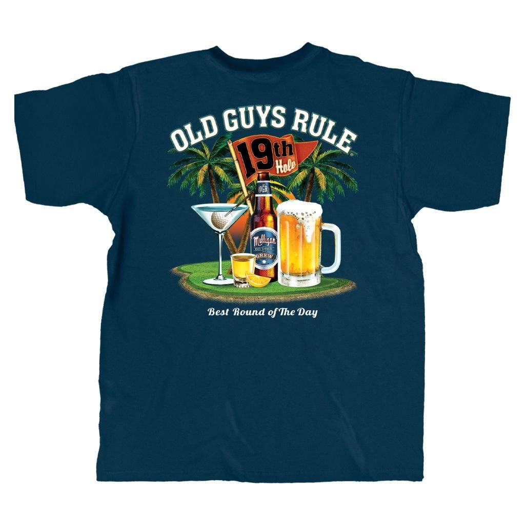 OLD GUYS RULE - BEST ROUND T-SHIRT