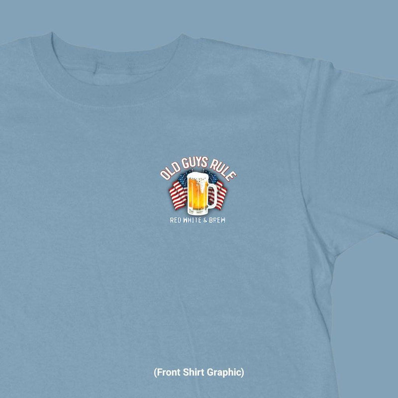 OLD GUYS RULE - RED, WHITE & BREW T-SHIRT