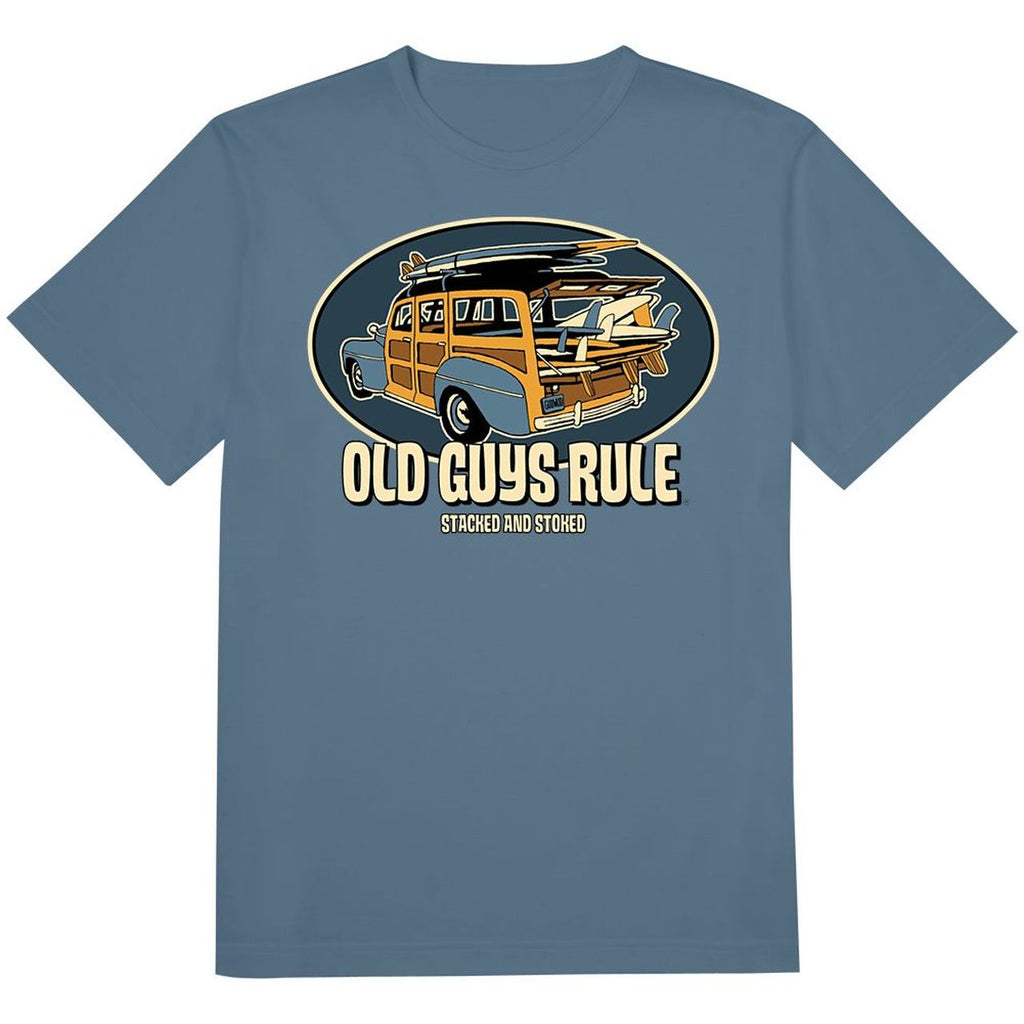 OLD GUYS RULE - STACKED AND STOKED T-SHIRT