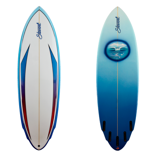 6'6 RETRO SHORTBOARD B#106520 GLOSS