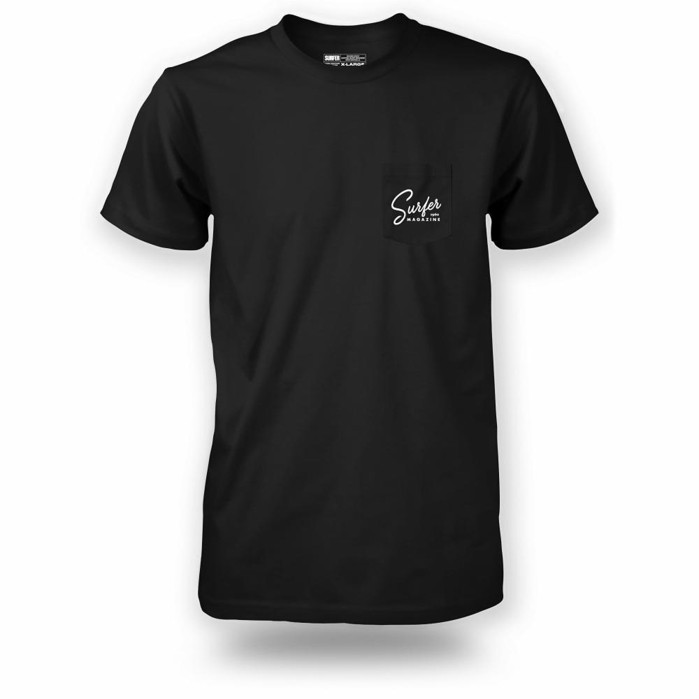 Surfer Mag T-shirt - Script Pocket Tee Stewart Surfboards