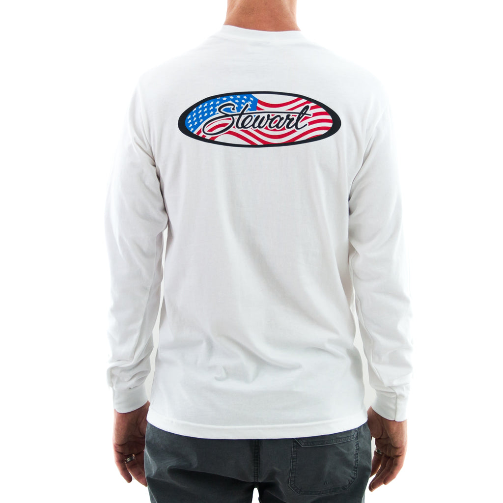 STEWART MEN'S FLAG OVAL L/S T-SHIRT