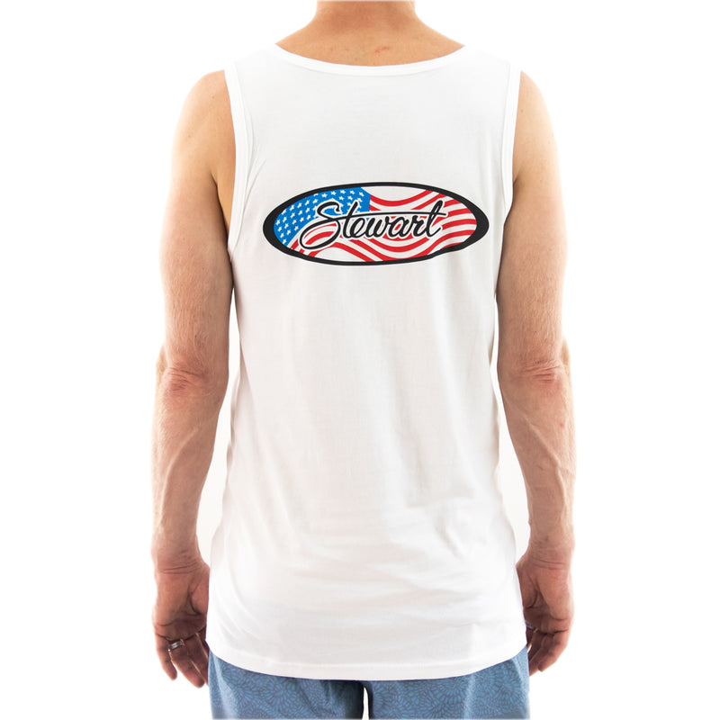 STEWART MEN'S FLAG OVAL TANK TOP