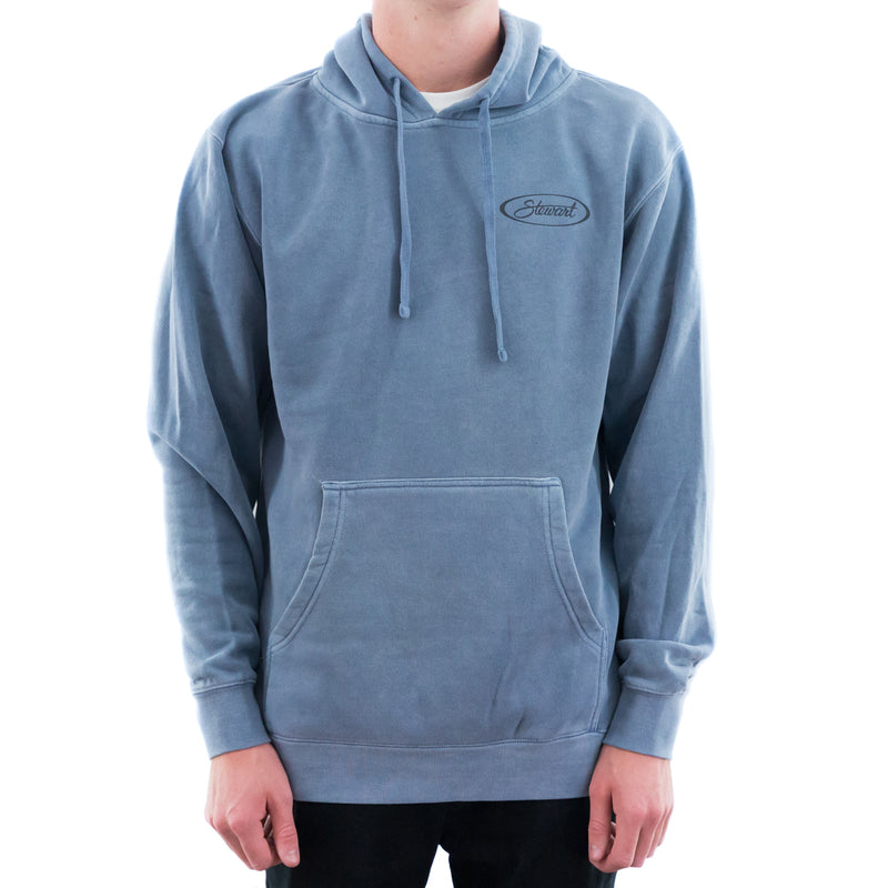 STEWART OVAL PIGMENT DYED PULLOVER HOODIE