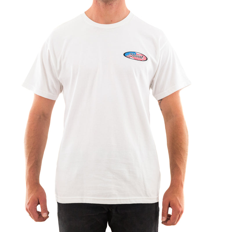 STEWART MEN'S FLAG OVAL T-SHIRT