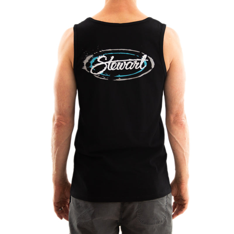 STEWART MEN'S SPILT OVAL TANK TOP