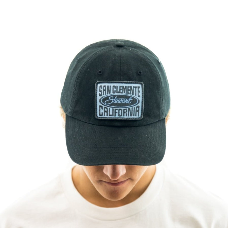 STEWART STAMPED UNSTRUCTURED STRAPBACK HAT