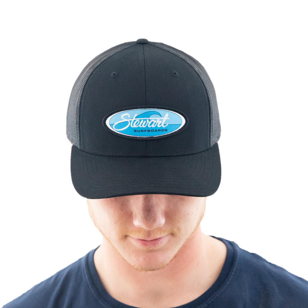 STEWART WAVE OVAL RETRO TRUCKER HAT