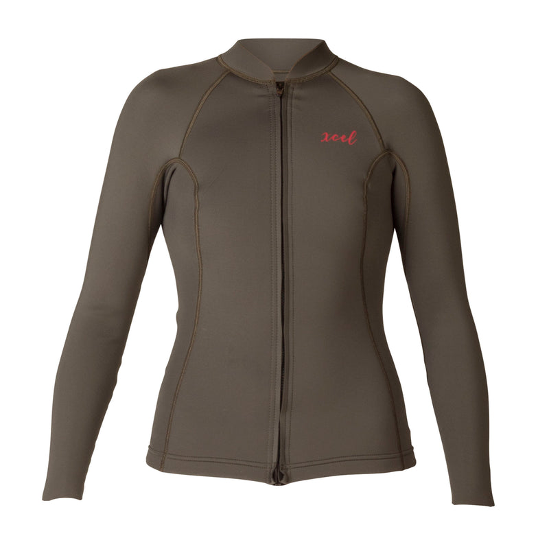 XCEL WOMEN'S AXIS 2/1mm L/S FRONT ZIP