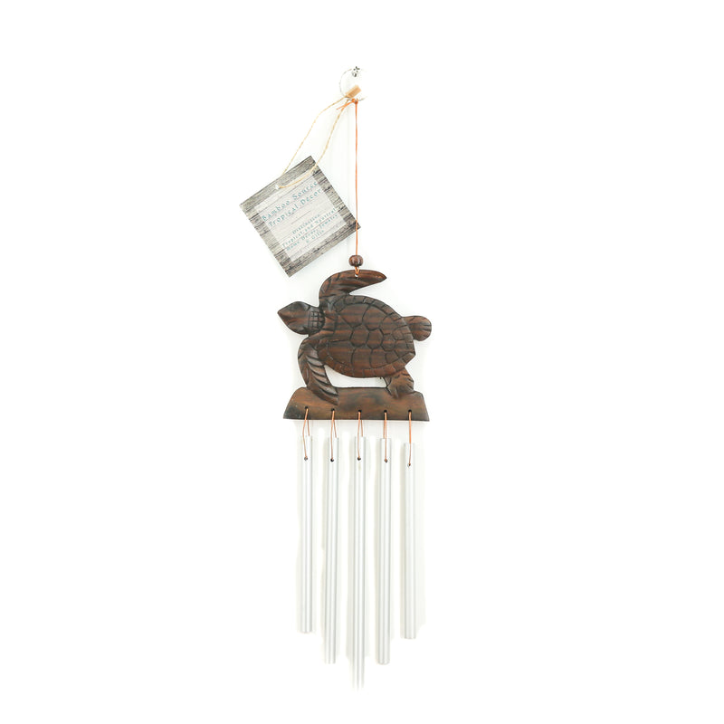 CARVED WOOD WIND CHIME