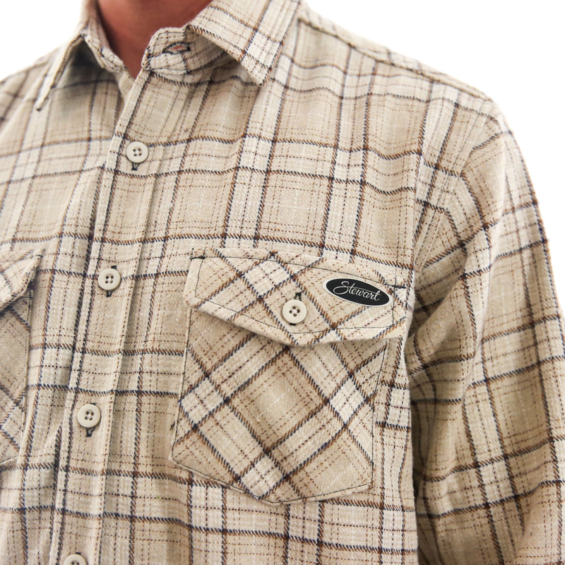 STEWART HEAVYWEIGHT FLANNEL SHIRT