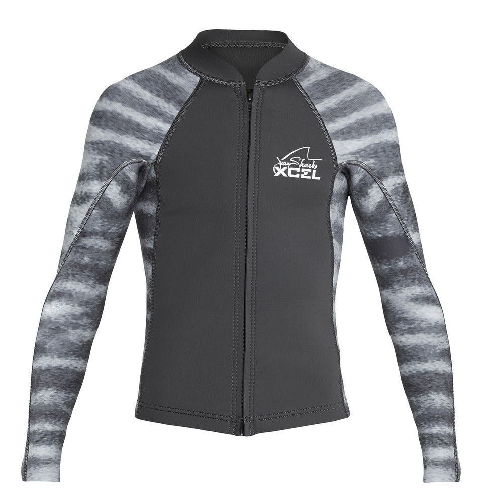 XCEL YOUTH WATER INSPIRED AXIS 2/1MM L/S FRONT ZIP SP19