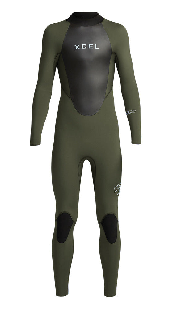 XCEL YOUTH AXIS BACK ZIP 4/3MM FULLSUIT FA19