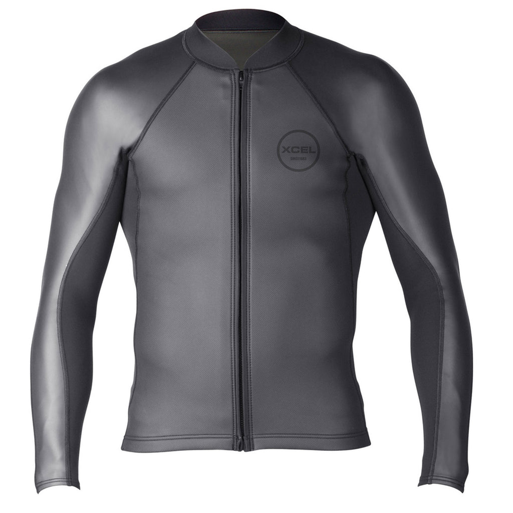 XCEL MEN'S AXIS SHARKSKIN FRONT ZIP WETSUIT TOP 2/1