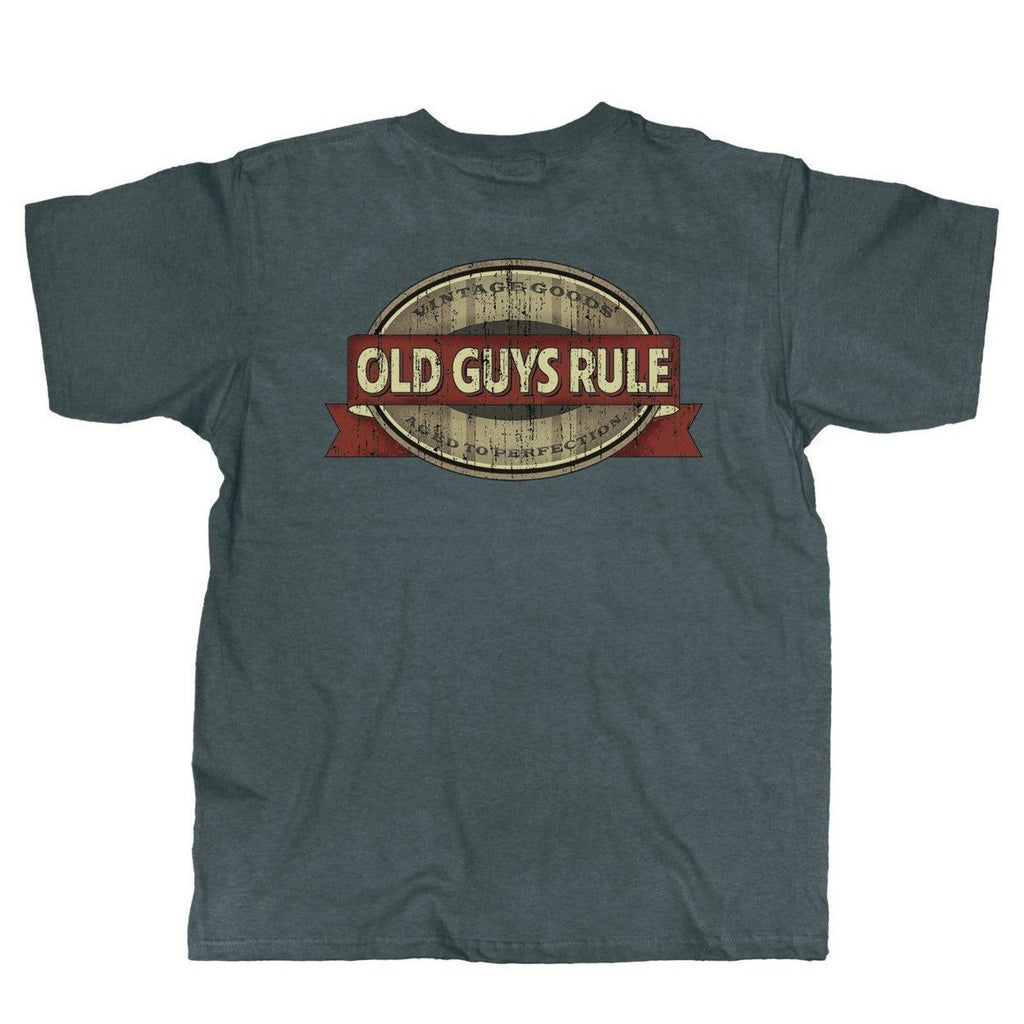 OLD GUYS RULE OAK CASK OVAL T-SHIRT