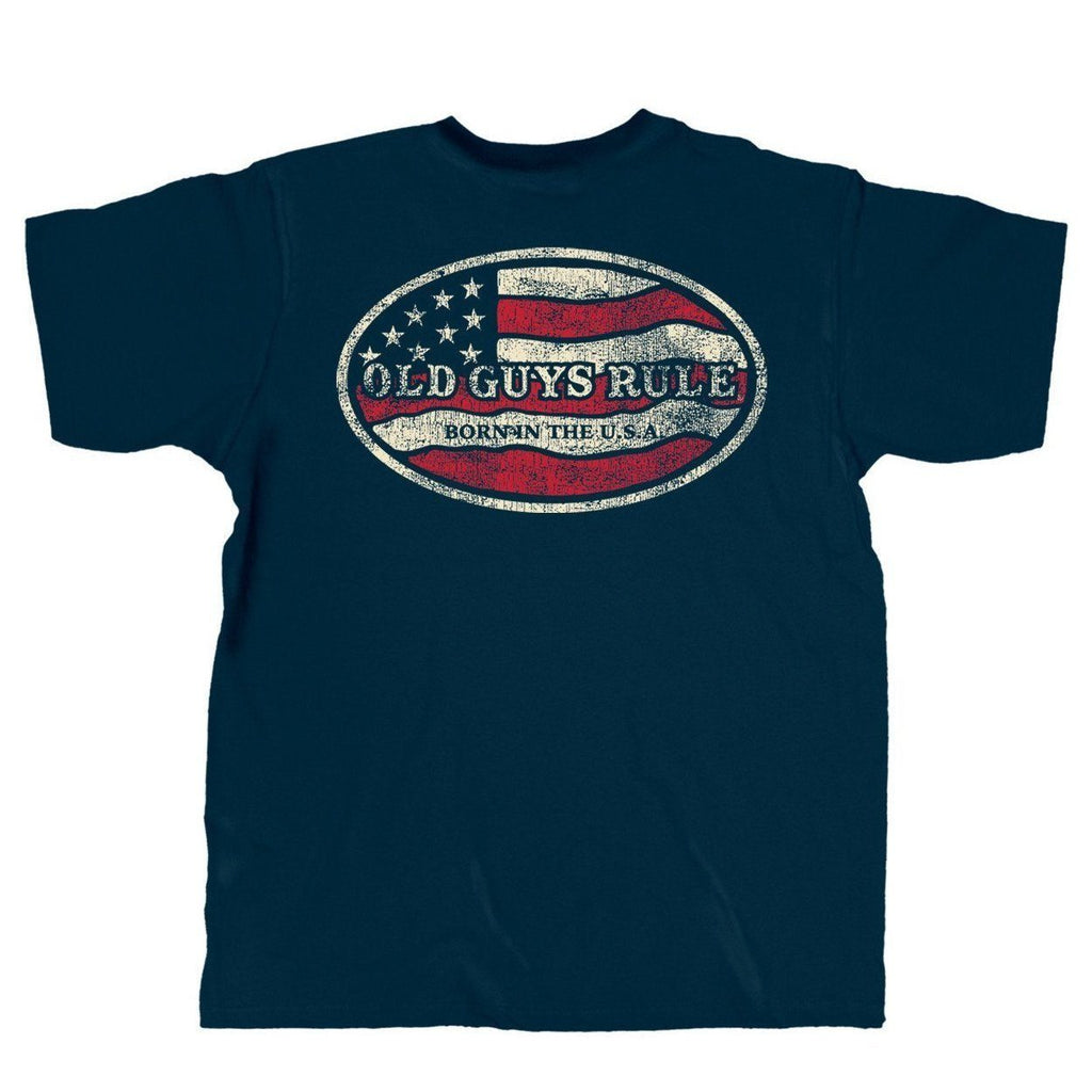 OLD GUYS RULE BORN IN THE USA T-SHIRT
