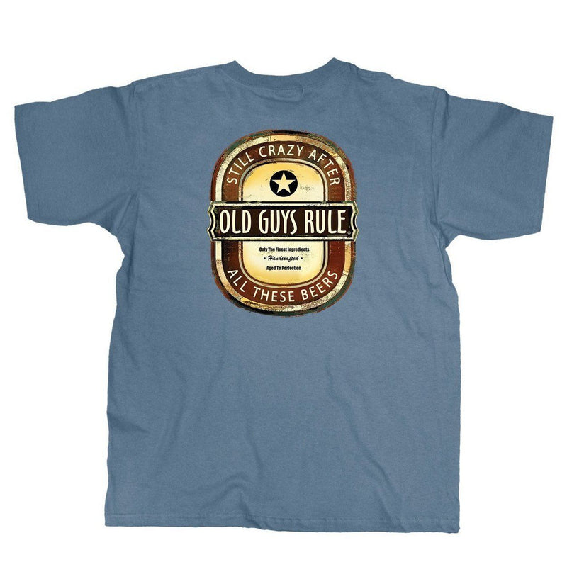 OLD GUYS RULE - CRAZY BREW T-SHIRT