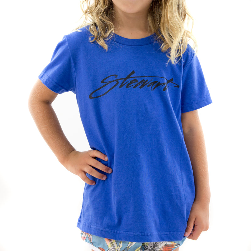 STEWART YOUTH BRUSHY SCRIPT S/S T-SHIRT
