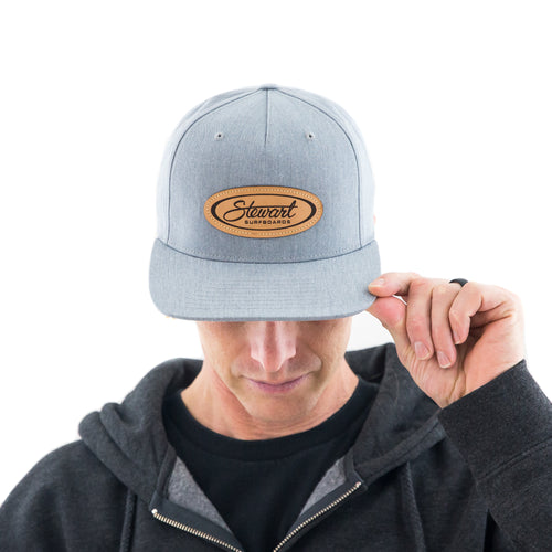 STEWART OVAL NATURAL LEATHER PATCH HAT