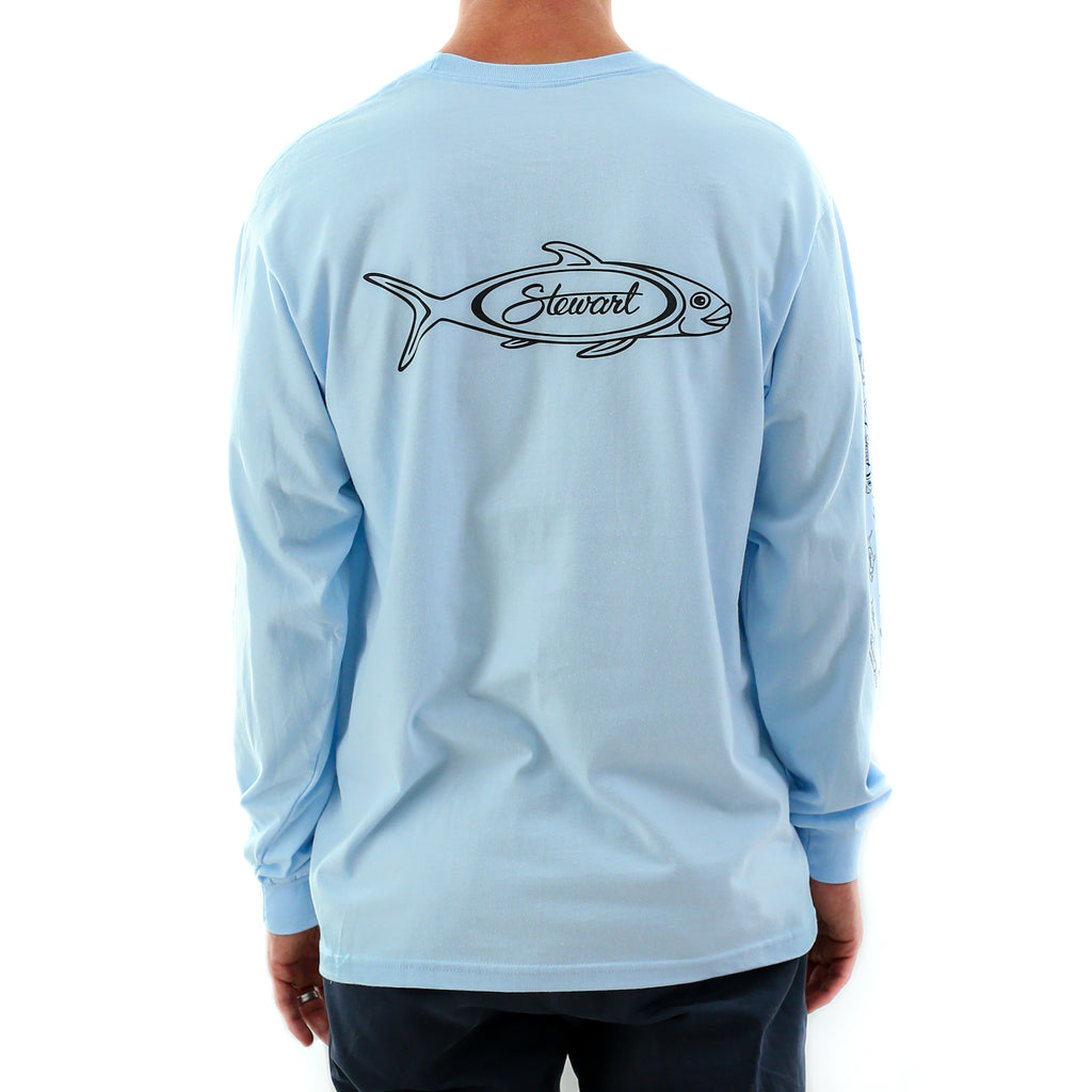 STEWART MEN'S FISH SCHOOL L/S T-SHIRT