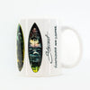 "STEWART Surfboards ""SURFBOARDS AND COFFEE"" MUG"