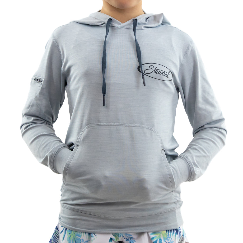 STEWART YOUTH HELM LIGHTWEIGHT TECH HOODIE