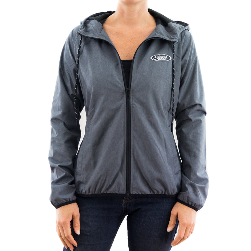 STEWART WOMEN'S SEASCAPE HOODED WINDBREAKER