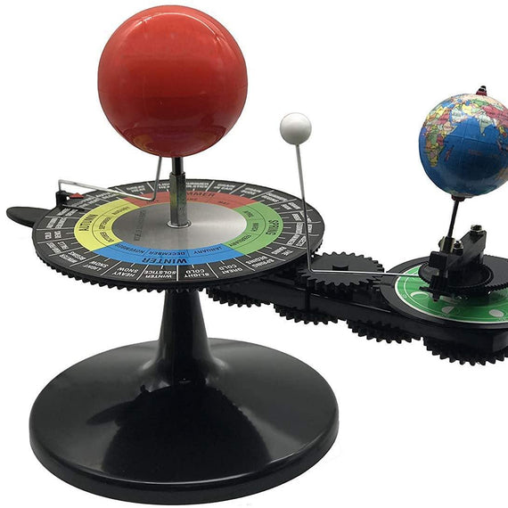 Solar System Sun Earth Moon Orbital Planetarium Model with Light Kids