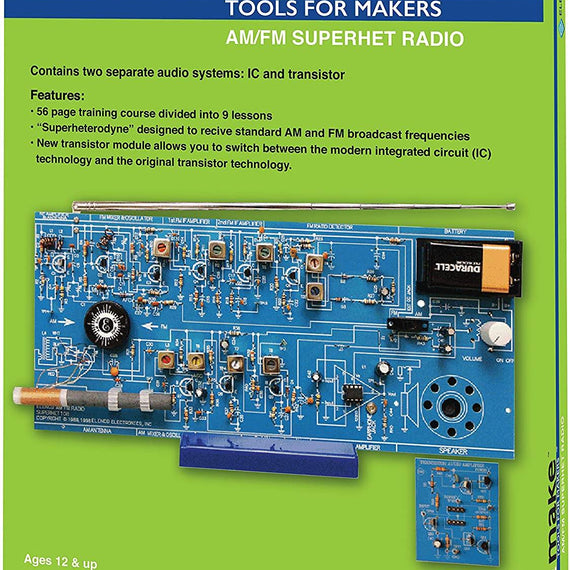 AM/FM DIY Project Based Maker Radio Kit | Learn about Electronics and Radio Wave with 9 Lessons Plans Included  | SOLDERING REQUIRED