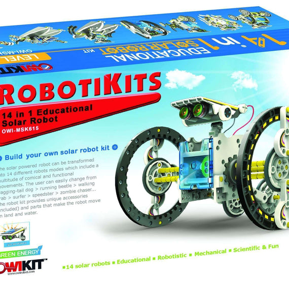 14-in-1 Solar STEM Robot toy