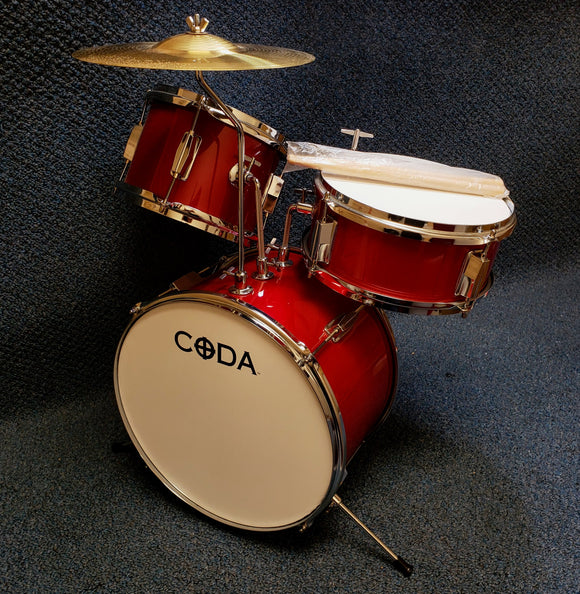 NEW Floor Model Coda 3-Piece Junior Drum Set - Red DS010R