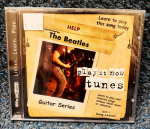 "NEW Learn Guitar for ""Help"" by The Beatles - Play It Now Tunes CD"