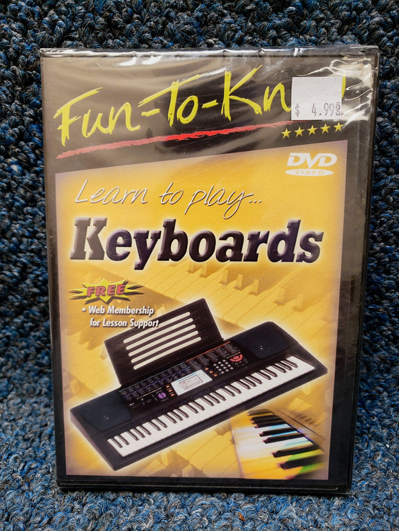 NEW Fun-To-Know: Learn to Play Keyboards Instructional DVD
