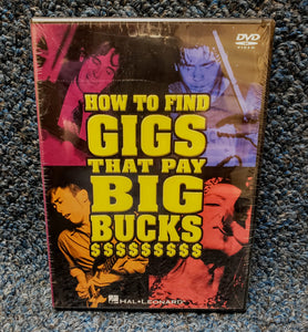 NEW How To Find Gigs That Pay Big Bucks - Instructional DVD