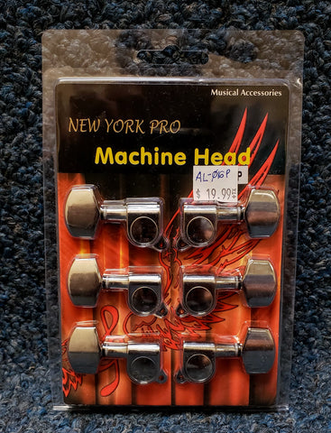 NEW New York Pro Chrome Tuning Machine Set for Guitar - 3 per side