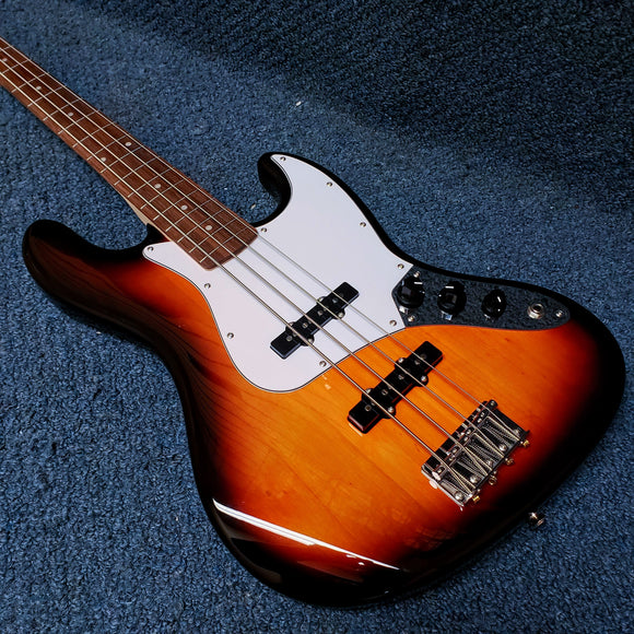 NEW Fender Squier Affinity Jazz Bass Guitar - Brown Sunburst