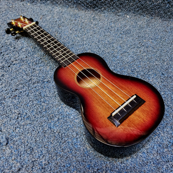 NEW Mahalo Java Soprano Sunburst Ukulele w/ Cover - MJ13TS