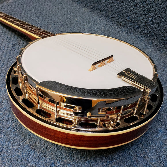 NEW Recording King Madison Mahogany Resonator Banjo B Stock RKR-36-BR