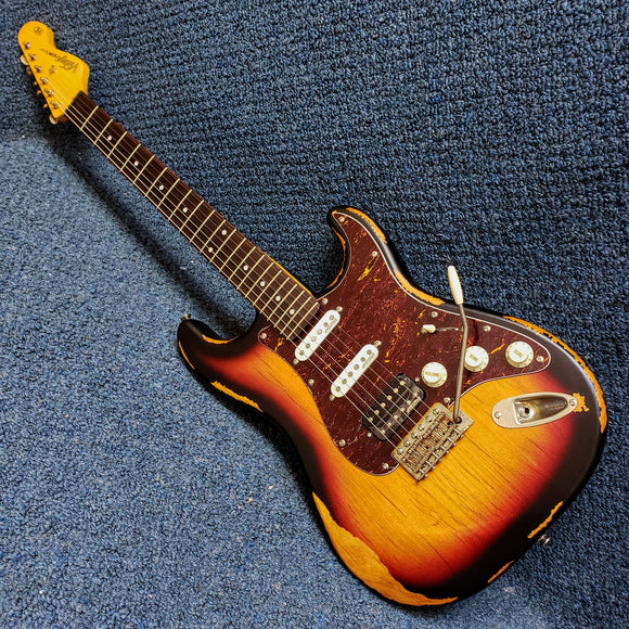 NEW Vintage Brand Strat-Style Sunburst Electric Guitar - V6HMRSB