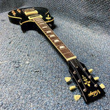 NEW Vintage Brand V100TBK LP-Style Electric Guitar - Flamed Transparent Black