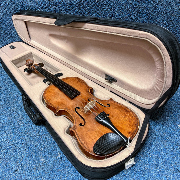 Vintage Unlabled Victorian Era Violin with Case