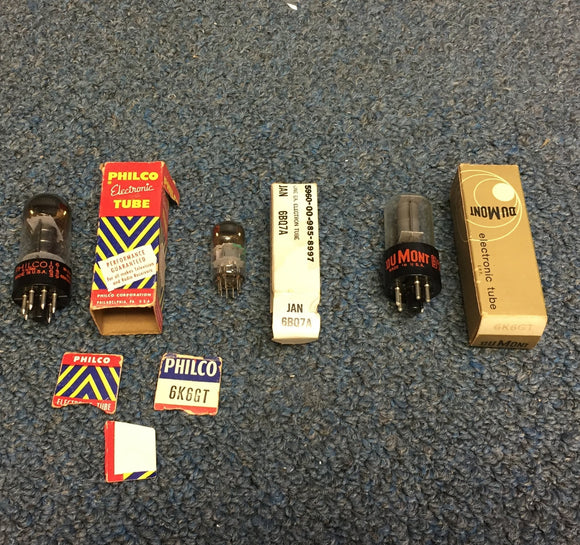 Philco, DuMont and GE Tubes NOS 6BQ7A 6K6GT