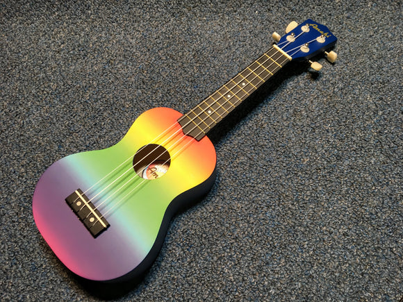 NEW Amahi DDUK1 Rainbow Gradient Ukulele w/bag