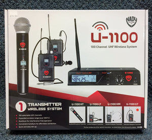 NEW Nady U-1100 Wireless Instrument Body Pack and Receiver
