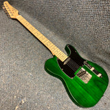 Glarry Tele-Style Electric Guitar Transparent Green