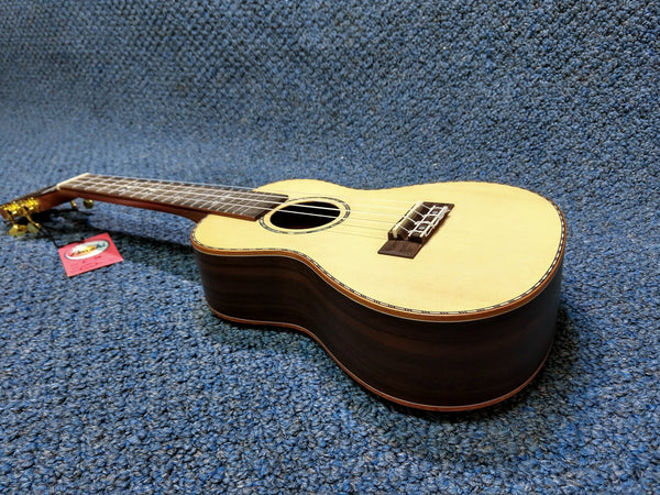 New Amahi C26 Solid Top Spruce Concert Ukulele With Bag and Pick