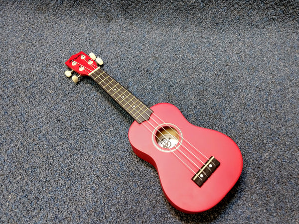 NEW Amahi PGUKRD Soprano Penguin Ukulele Uke Dark Red With Cover