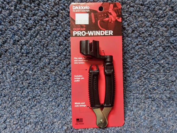 NEW D'Addario Guitar Pro-Winder Black