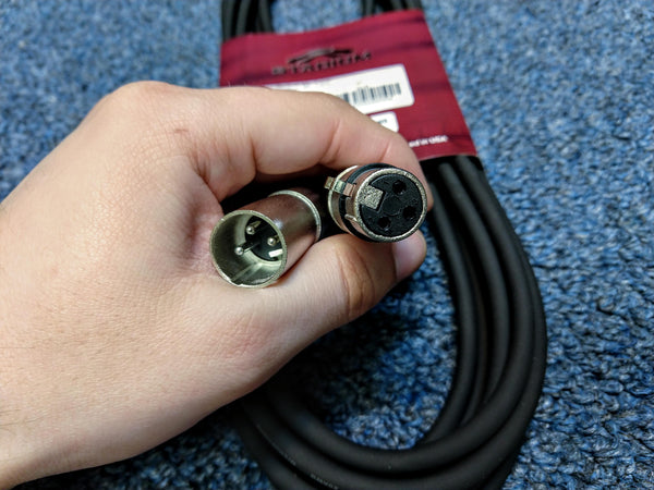 NEW Stadium MPC240 Low Z Mic Cable 20' XLR Black