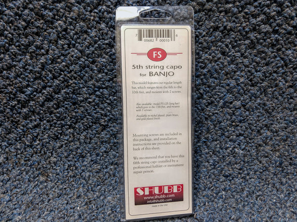 NEW Shubb 5th String Capo FS for Banjo